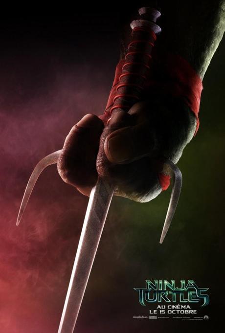 Ninja Turtles Teaser Raphael 691x1024 [CINÉMA] 4 affiches teaser pour NINJA TURTLES