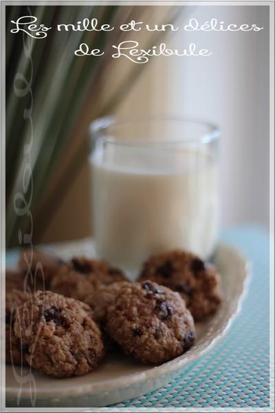 ~Biscuits aux bananes, gruau et chocolat~