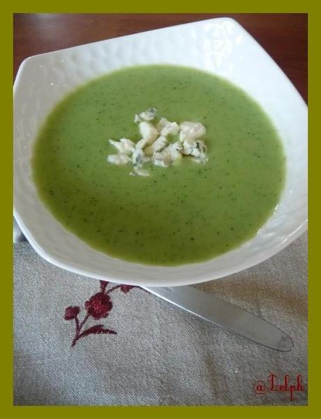 Soupe de courgettes au bleu d'Auvergne