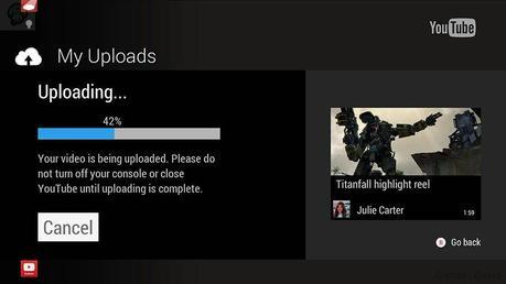 1396885001 yt xbox upload Xbox One : Des news   Upload Youtube  youtube Xbox One