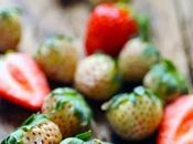 bouffe mais seulement images… fraises blanches