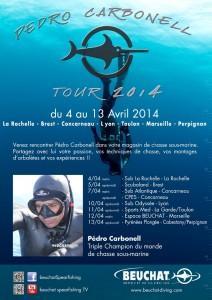 Affiche Pedro Tour 2014 212x300 Pedro Carbonell Tour 2014 : les dates.
