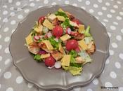 Salade printanière poulet grillé Spring salad grilled chicken
