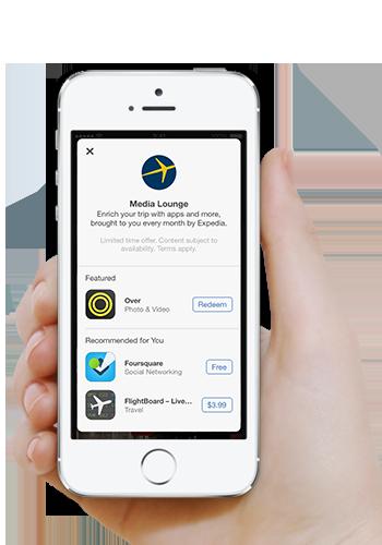 Expedia.ca ajoute Media Lounge à son application de voyage gratuite