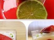 Verrines Mousse mascarpone/citron vert fraises