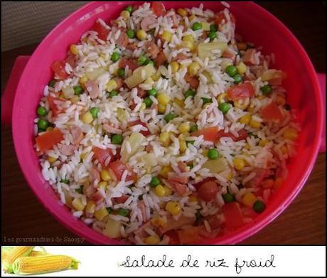 Salade de riz froid