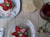"""Tartelettes fraises """"minute"""" sablés cassonade~fraises vinaigre balsamique~chantilly mascarpone"""