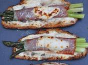 Tartines d'asperges vertes l'italienne