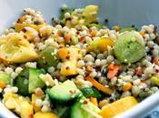 Idee Recette Couscous Marocain courgettes Salade avec vinaigrette pesto