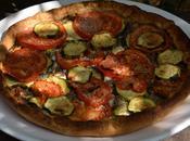 Tarte tapenade, feta, tomates courgettes