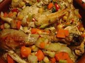 Tajine Poulet légumes pour couscous marocain