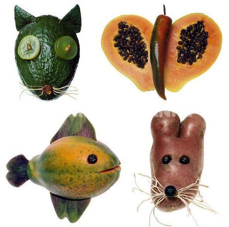 food art animaux en fruits et l gumes d couvrir. Black Bedroom Furniture Sets. Home Design Ideas