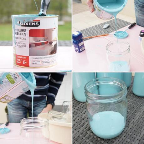 diy peindre des bouteilles en verre pour une jolie d coration voir. Black Bedroom Furniture Sets. Home Design Ideas