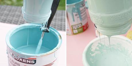 Diy peindre des bouteilles en verre pour une jolie d coration voir - Decoration de bouteille en verre ...