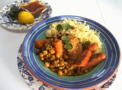 Tajine poulet lentilles pois chiches d'inspiration marocaine