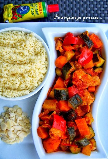 recette couscous marocain poulet un plat complet et l ger paperblog. Black Bedroom Furniture Sets. Home Design Ideas