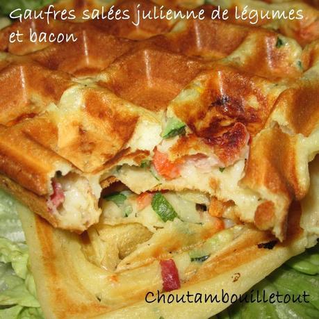 Gaufres sal es julienne de l gumes et bacon d couvrir - Appareil julienne legumes moulinex ...