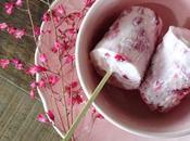 Petites glaces légères fraise