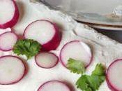 Tartines fromage frais maison radis rose