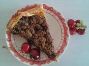 Tarte cerises crumble chocolat amande