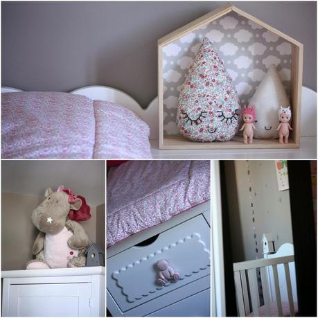 d co chambre d 39 enfant dans les tons de taupe et rose paperblog. Black Bedroom Furniture Sets. Home Design Ideas