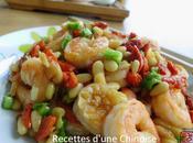 Crevettes sautées baies goji pignons 枸杞松仁炒鲜虾 gǒuqí sōngrén chǎo xiānxiā