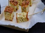 Gâteau yaourt salé feta courgettes noisettes menthe