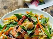 n'avais plus faire courses pour cuisiner Salez Poivrez poêlée gambas petits légumes sans bouger cuisine…