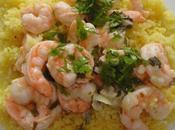 Crevettes sautées l'estragon, sauce persil