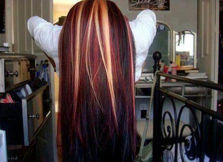 La folie dans mes cheveux r trospective capillaire envie lire - Meche blonde et rouge ...