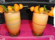 Smoothie melon-melonade-sirop basilic