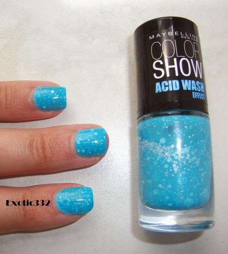 avec le vernis color show acid wash effect - Vernis Color Show