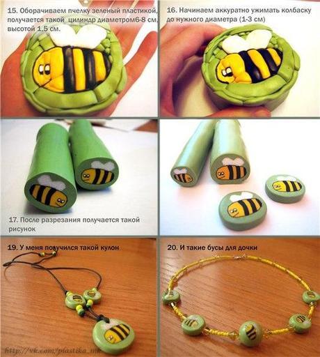 cane abeille en p te fimo paperblog. Black Bedroom Furniture Sets. Home Design Ideas
