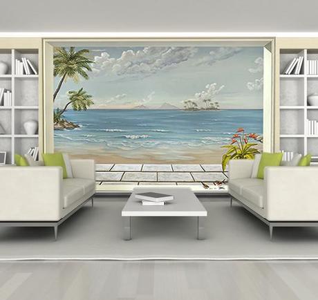 d cor paysage en trompe l oeil pour agrandir les pi ces voir. Black Bedroom Furniture Sets. Home Design Ideas