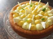 Sablé breton, crème citron, crèmeux basilic meringue