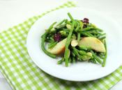 Haricots verts, pêche blanche amandes fraiches