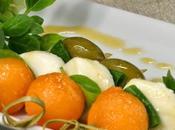 Mini-brochettes Melon, Sauce Miel épicée.