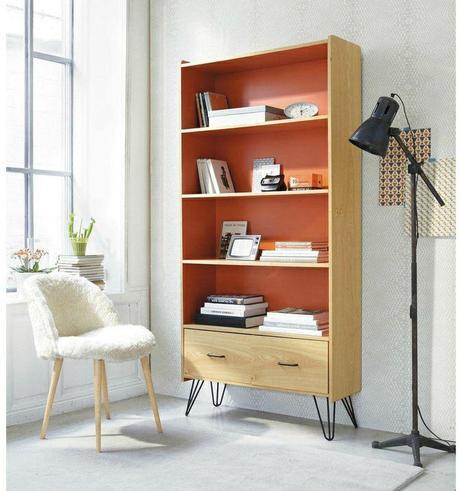 Tendance d co l abricot couleur bonne mine paperblog - Bibliotheque maison du monde occasion ...