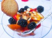 Nectarines abricots mûres amandes grillés