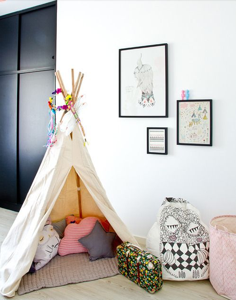d co enfant une tente tipi dans la chambre paperblog. Black Bedroom Furniture Sets. Home Design Ideas