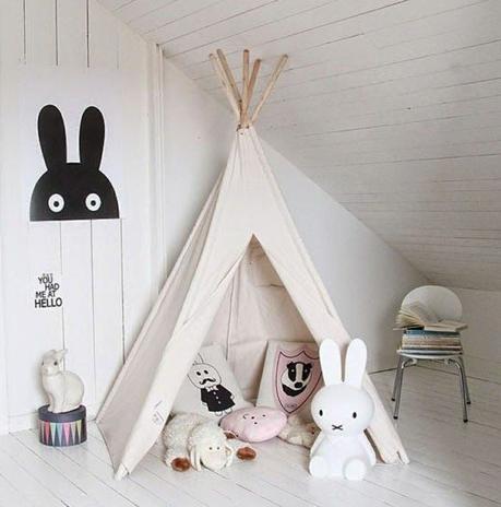 d co enfant une tente tipi dans la chambre paperblog. Black Bedroom Furniture Sets. Home Design Ideas