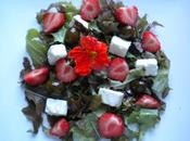 Salade estivale feta, fraises olives confites, vinaigrette vanillée