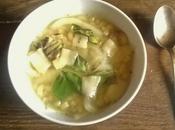 Soupe pâtes (coquilletes) l'oignon basilic