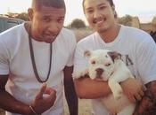 Usher rend visite Nicki Minaj tournage nouveau clip