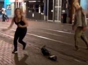 zombie dans rues d'Amsterdam