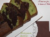 Marbré pistache chocolat noir ultra moelleux