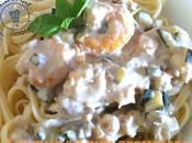 Linguines crevettes sauce rhum vanille