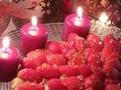 Tarte sablée pralinée, fraises sous compote pommes vanille