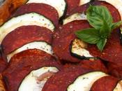 Tarte chorizo courgette sauce tomate poivrons