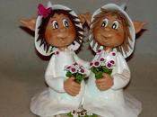 Figurine pour gâteau mariage elfique